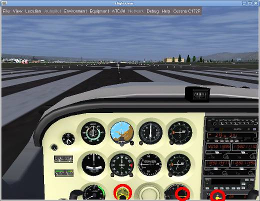 flightgear 1 FlightGear with quad buffered stereo