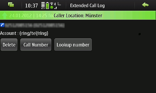 shot callerid 4 Looking up phone numbers with the N900