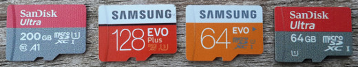 Tested Micro SD cards